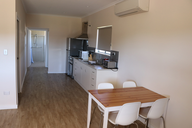 Kitchen in Cabin 1 - wheelchair accessible accommodation